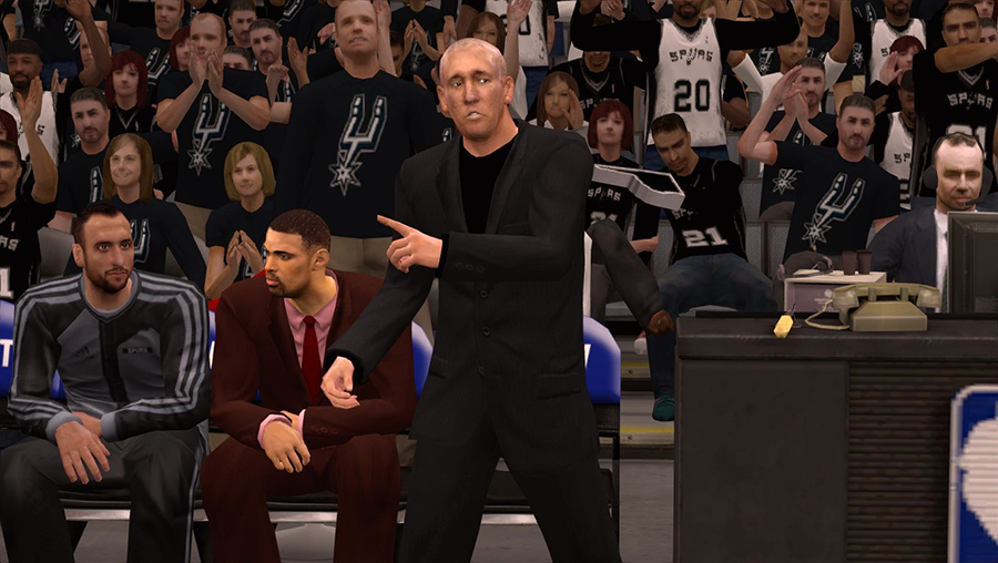Spurs Coach Greg Popovich | NBA 2K14