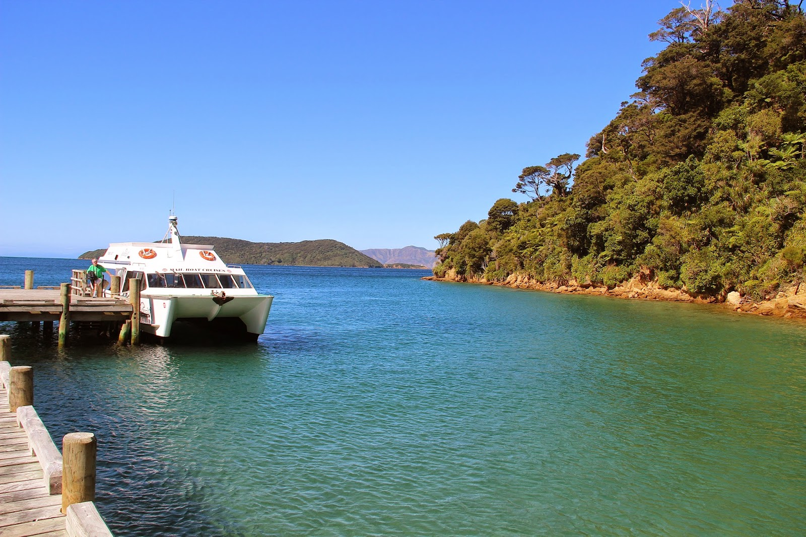 Mailboat Cruise Picton New Zealand