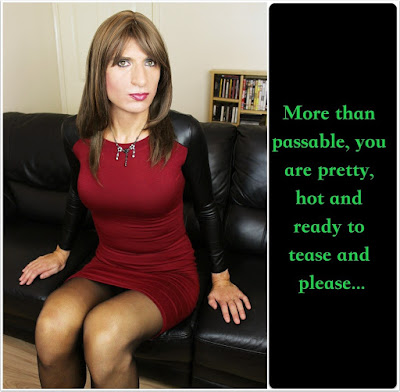 More than Passabe Sissy TG Caption - kyra sissy musings - Crossdressing and Sissy Tales and Captioned images