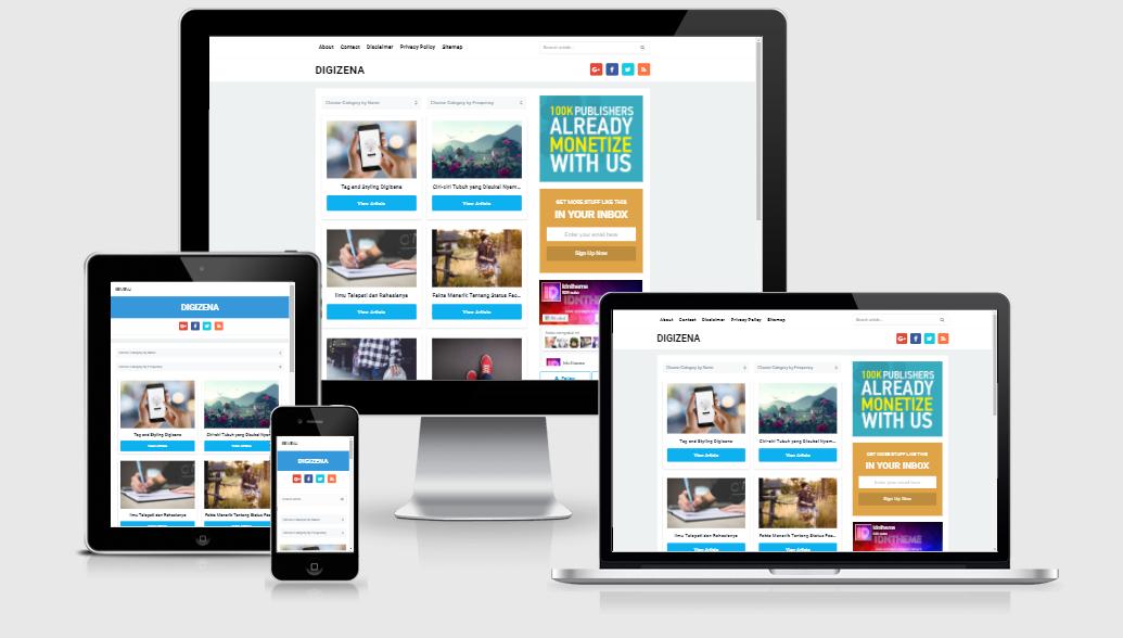 Digizena Fast loading SEO Responsive Blogger Templat - free premium ...