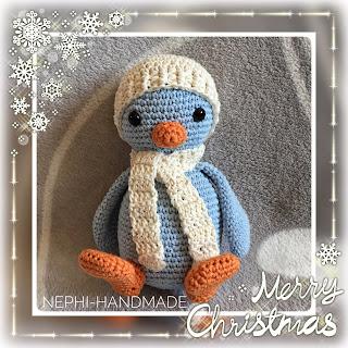 Weihnachten, Pinguin gehäkelt