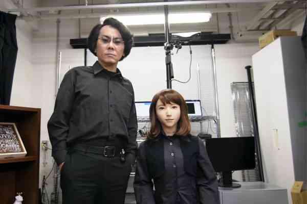 Robot Erica dan Hiroshi Ishiguro