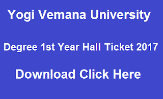 yvu ug 1st year hall tickets 2017 download