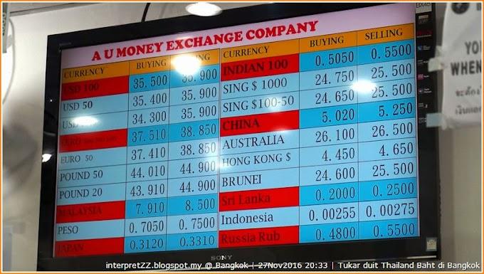 Tukar Thailand Baht di Malaysia atau Thailand?
