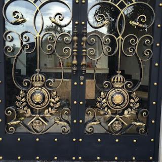 Pintu, Pagar, Besi, Tempa, Rumah, Mewah, Klasik