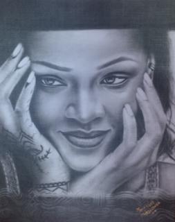 Mary Ogochukwu Nwele drawing of Rihanna