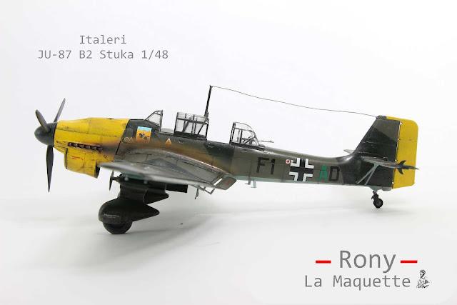 Maquette du Junker Ju-87 Stuka d'italeri au 1/48.