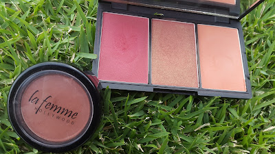 La Femme 'Sienna' and Sleek Blush by 3 'Sugar' www.modenmakeup.com