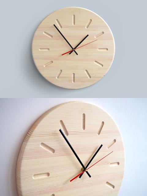настенные часы с деревянным циферблатом