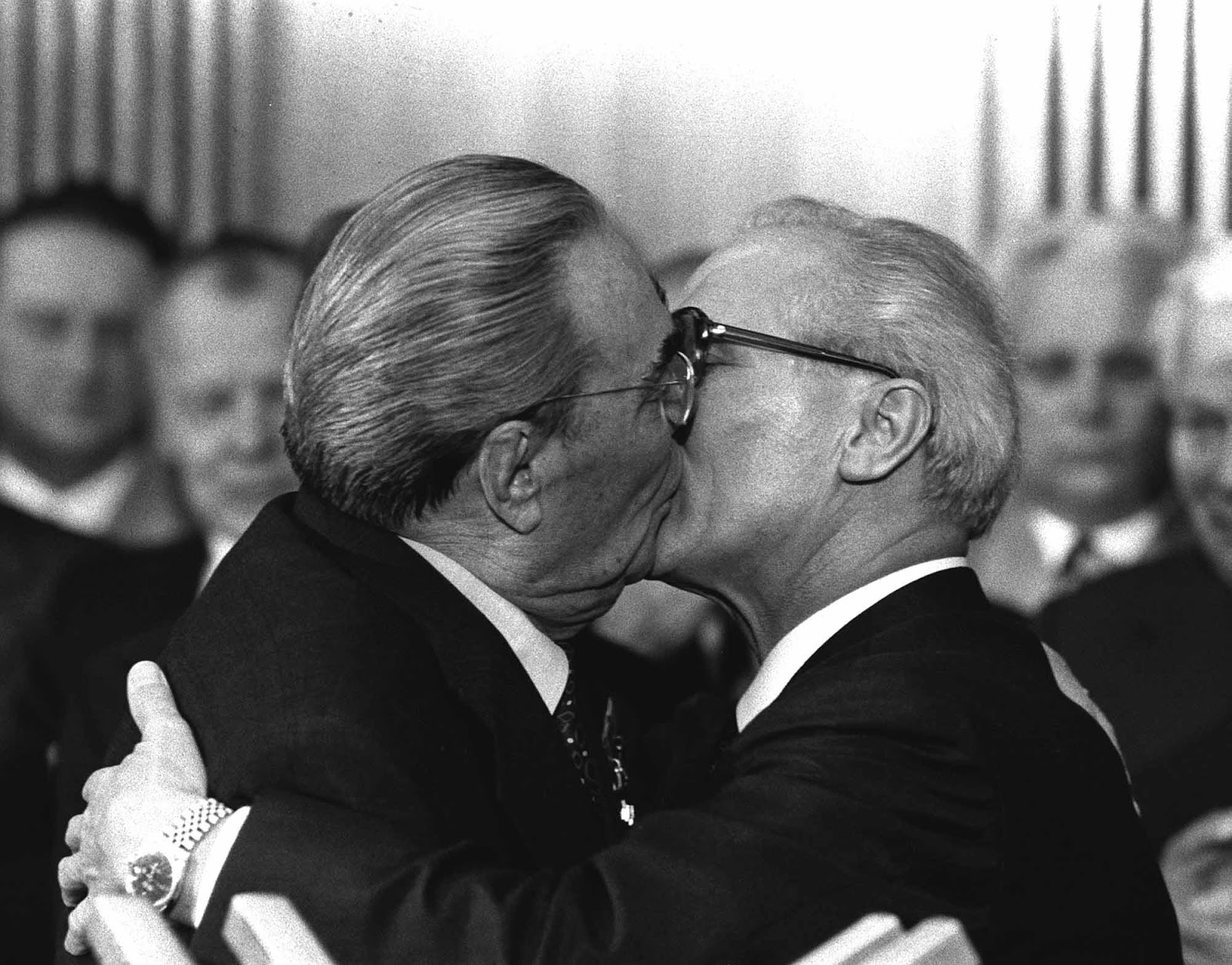 "The Socialist Fraternal Kiss, ""The Kiss"", 1979."