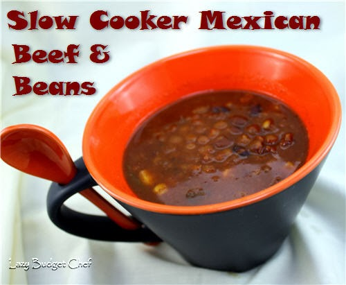 slow cooker Mexican beef and bean soup recipe