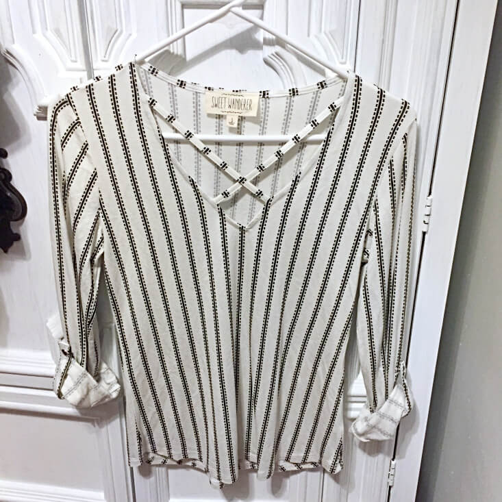 Sweet Wanderer striped top
