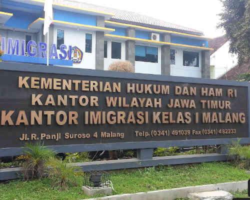 Alamat Telepon Kantor Imigrasi Malang - Jawa Timur