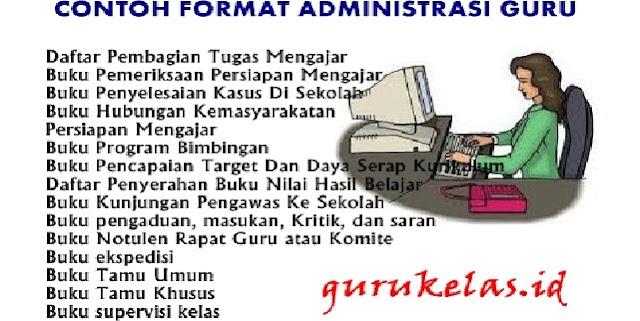 Contoh Format Administrasi Guru Lengkap