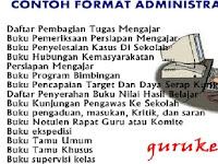 Contoh Format Administrasi Guru Lengkap SD, SMP dan SMA