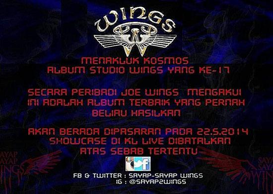 Lirik dan Lagu Album Wings 2014 Menakluk Kosmos