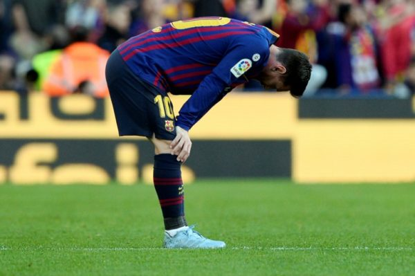 Lionel Messi: stunned by Real Betis loss on return
