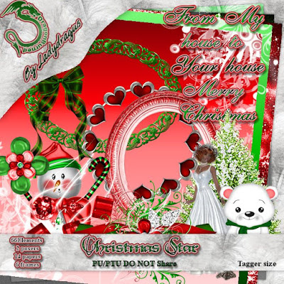 Christmas Star - A Scrap Kit made by Trish Schaffer aka Lady Dragus