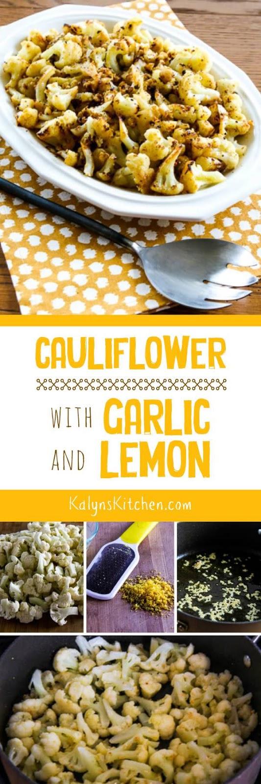 Cauliflower with Garlic and Lemon found on KalynsKitchen.com