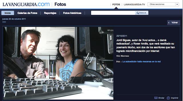 """Reedició de """"Morbo"""" a la Vanguardia"""
