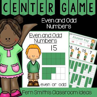 2nd Grade Go Math 1.1 Even or Odd Numbers Quick and Easy to Prep Centers