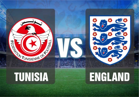 Group G fixture between Tunisia and England