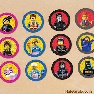 Toppers  para Cupcake  de Película de Lego para   imprimir gratis