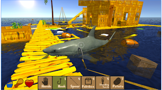 Download Raft Survival Simulator Apk Mod 1.5 Unlimited Money Unclocked Terbaru 2017