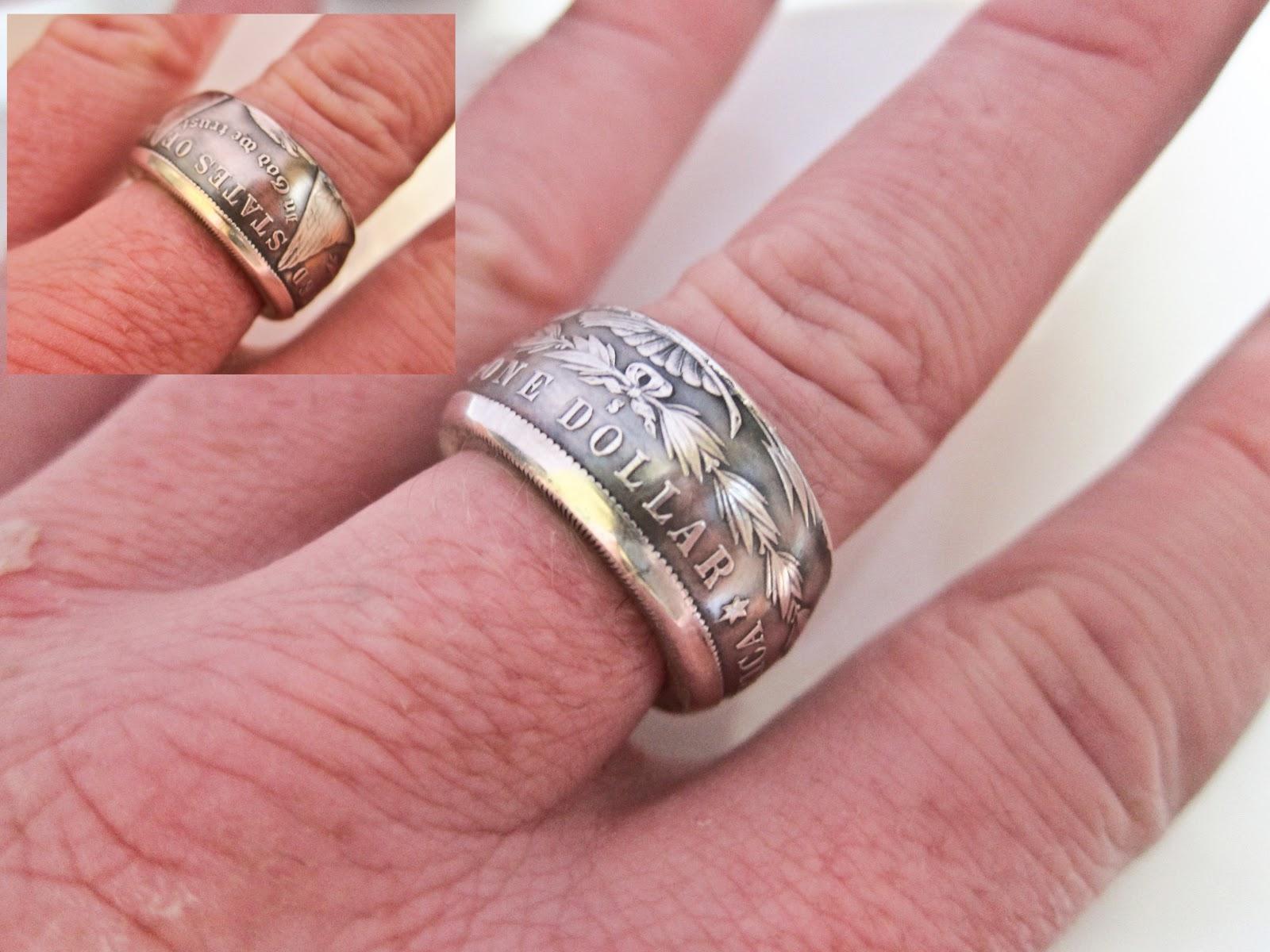 O Shea Coin Rings Morgan Dollar Coin Ring 1881