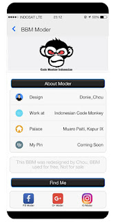 Tema BBM MOD Like iOS Beta v300.3.7.98 Apk 2
