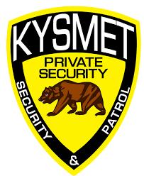 Placa de empresa de segurança