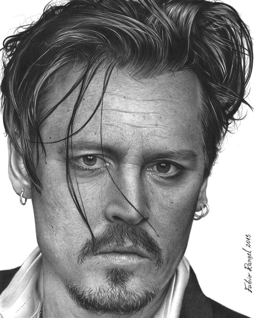 22-Johnny-Deep-Fabio-Rangel-Drawings-of-Protagonists-from-TV-and-Movies-www-designstack-co