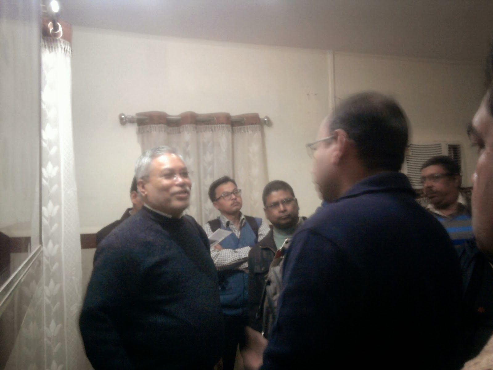 Nepolians Visit With Dr Gagan Gupta Sir In District Hospital Shivpuri Dated On