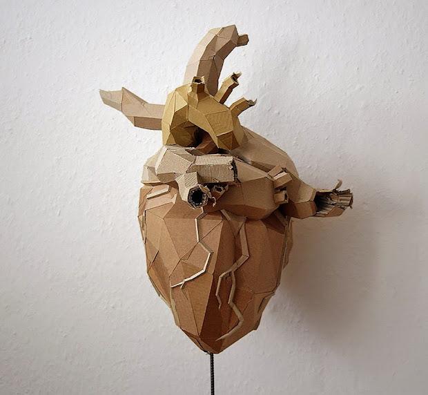 Simply Creative Cardboard Sculptures Bartek Elsner