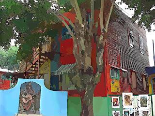 As Casas Coloridas em La Boca, Buenos Aires