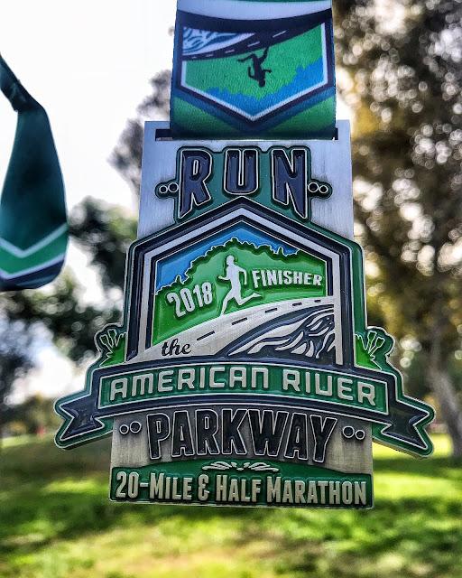 Run The parkway 20 miler medal 2018