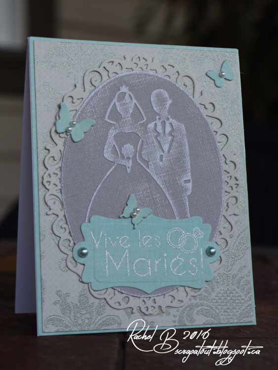 Scrapatout - Handmade card, wedding, Darice, Spellbinders, Impression Obsession