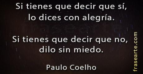 Si tienes que decir que sí – Paulo Coelho