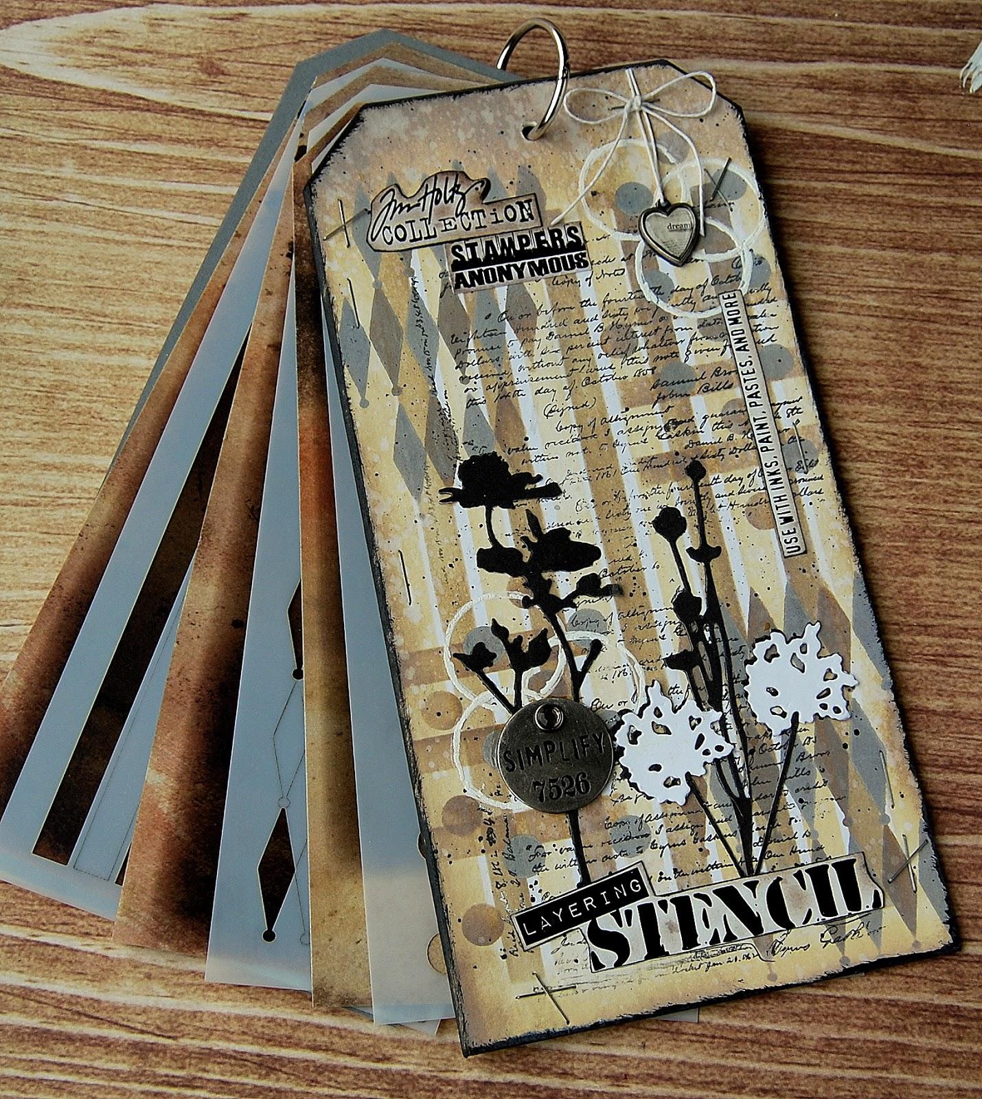 Shifter Stripes THS108 Tim Holtz Layering Stencil