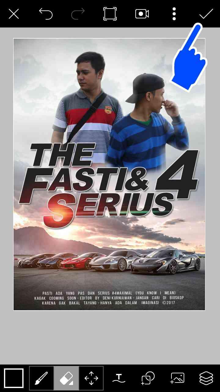 Cara Edit Foto Picsart kekinian Ala The Fast Furious 4