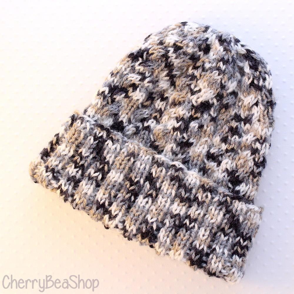 bonnet-torsades-tricoté-main
