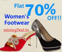 Women Footwear Flat 70% OFF From Rs 209 at Amazon