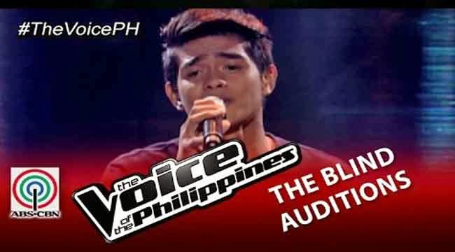 Video: Daniel Ombao sings 'Tadhana' on The Voice of the Philippines Season 2 Blind Audition