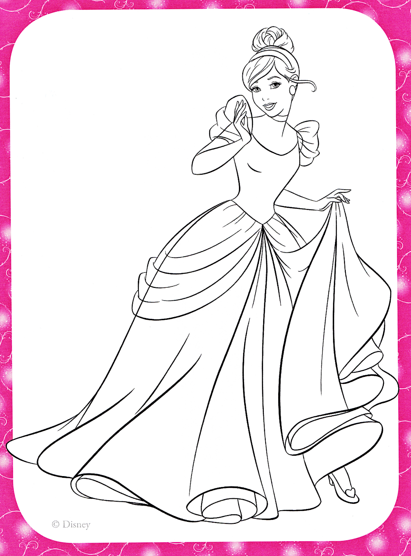 Princess Coloring Pages Spot : Unique disney princess coloring pages cinderella free