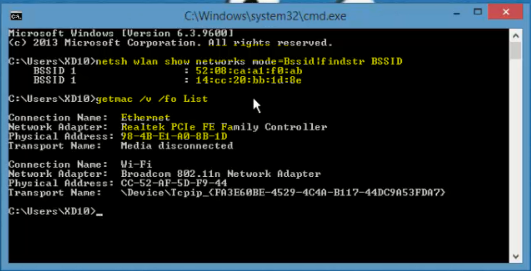 طريقة معرفة الاشخاص المتصلين مع في نفس الشبكة وعنوان MAC الخاص بهم بدون برنامج