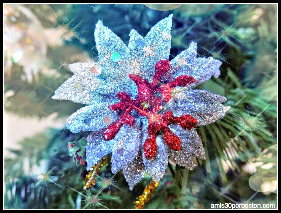 Flor Decoración Árbol Navidad