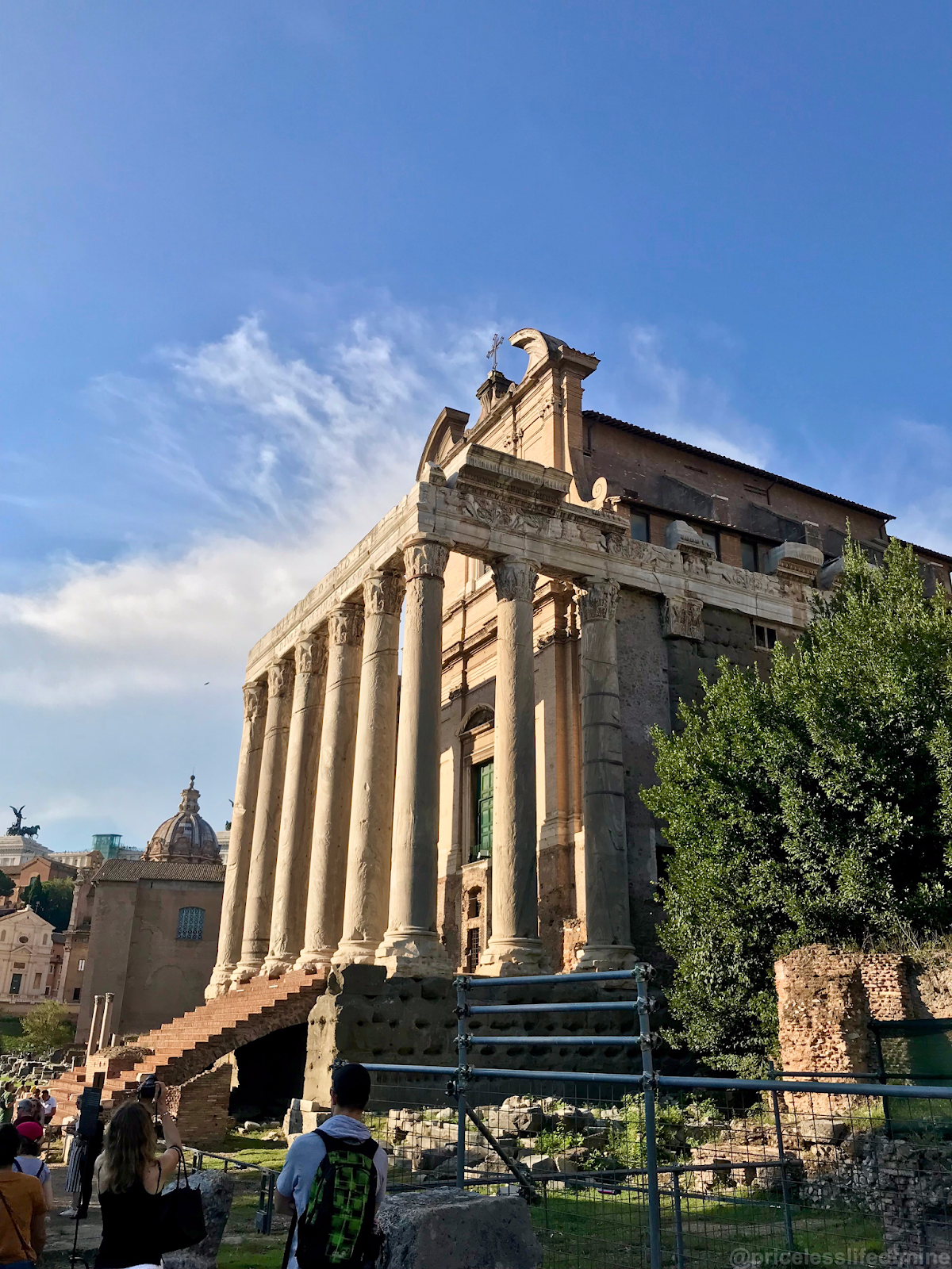 Caesars temple in the Roman Forum