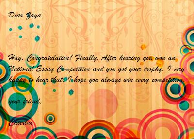 contoh congratulation card