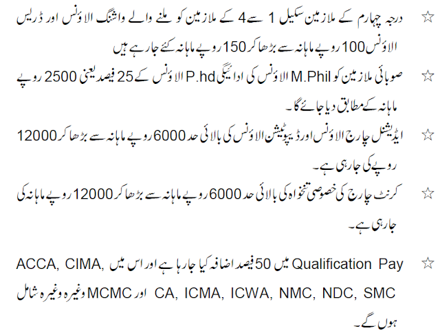 KPK Govt Employees Salary and Pension