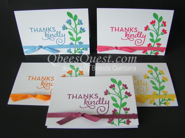 Qbee\u0027s Quest Bountiful Border Note Cards